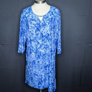 Notations NY Collection Womens Dress Plus 3X Blue